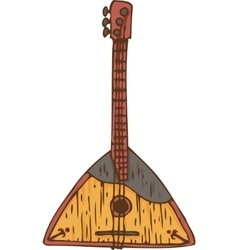 Isolated Wooden Balalaika vector image