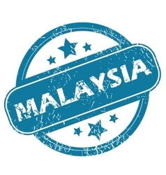 Malaysia round stamp vector