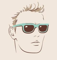Man in glasses eps 10 vector