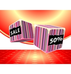 playing in the sale vector image vector image