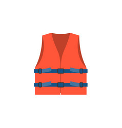 Red life vest jacket for children vec vector