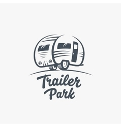 Trailer or van park logo template vector