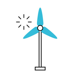 turbine wind energy icon vector image