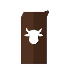 Milk box icon bakery supply design vector