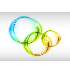 abstract small circles vector image