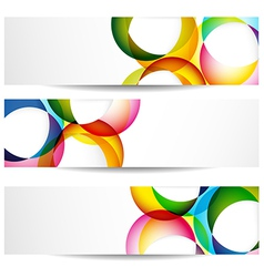 Abstract colorful banners vector