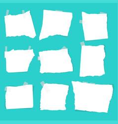 Set of paper scraps vector