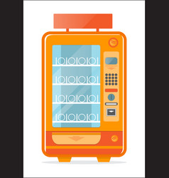 vending machine with empty shelves icon vector image
