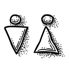cartoon image of man woman icon toilet symbol vector image
