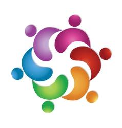 Teamwork business people logo vector image