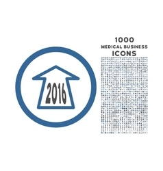 2016 Ahead Arrow Rounded Icon with 1000 Bonus vector image vector image