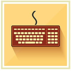 Classic Computer Keyboard flat icon vintage vector image