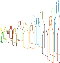 Bottles color vector