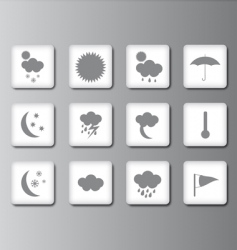 weather icon set 2 vector image