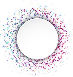 Colorful bright circle splatter advertising sign vector