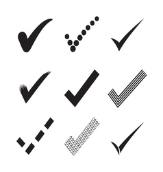 Confirm check marks icons3 vector