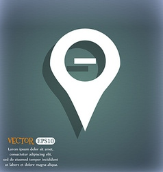Minus map pointer gps location icon symbol on the vector