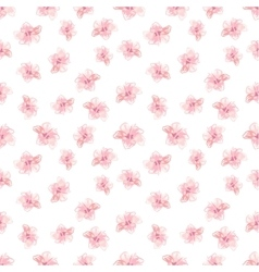 Hibiscus flowers pattern hand-drawn vector
