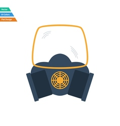 Flat design icon of chemistry gas mask vector
