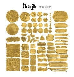 Collection of acrylic textures vector