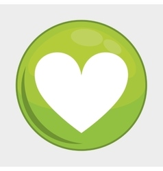 Heart button icon social media design vector