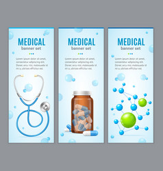 Medical banner vertical set vector