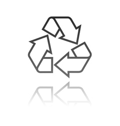 a recycle symbol eco concept vector image