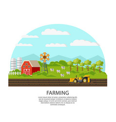 agriculture and farming concept vector image