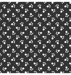 Black animal footprint seamless pattern vector