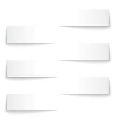 Blank paper banners with shadows background vector image vector image