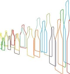 Bottles color vector image