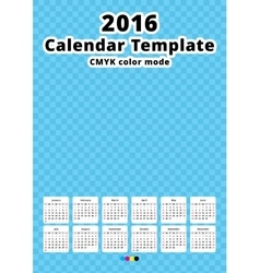 Calendar 2016 year template vector