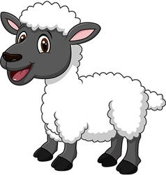 Cartoon funny sheep posing isolated vector
