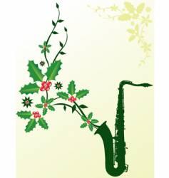 Christmas sax vector