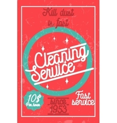 Color vintage cleaning service banner vector