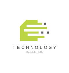 data chip teechnology logo vector image