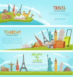 design of three horizontal banners of vector image vector image