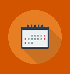 Education Flat Icon Calendar vector image vector image