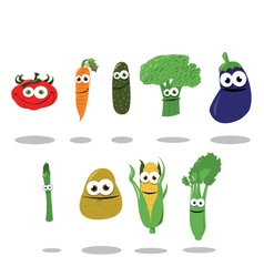Funny Vegetables vector image