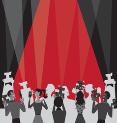 hollywood movie awards vector image vector image