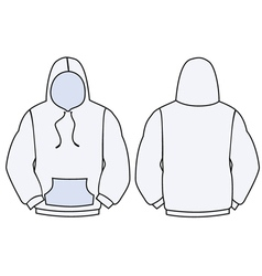 hoodie template design vector image