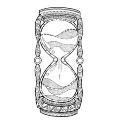 hourglass coloring book vector image