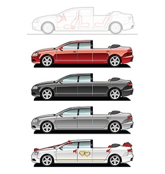 Landaulet wedding cars vector