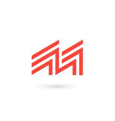 Letter m logo icon design template elements vector