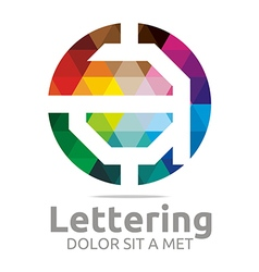 Logo Abstract Lettering A Rainbow Alphabet Icon vector image