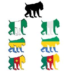 Mandrill flags vector