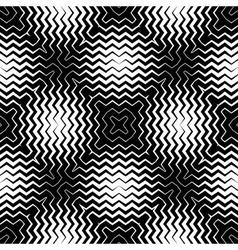 Op Art Design Zig Zag Striped Seamless Pattern vector image
