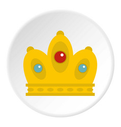 Queen crown icon circle vector