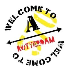 Rotterdam stamp rubber grunge vector