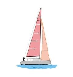 Sailing yacht vector